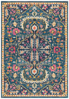 Baltimore Navy Designer Rug