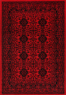 Afghan Red Traditional Rug
