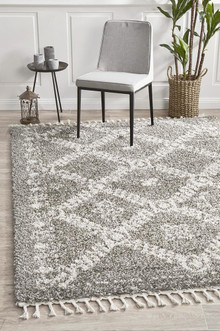 Jasper King Grey Shag Rug