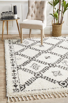 Jasper King White Shag Rug