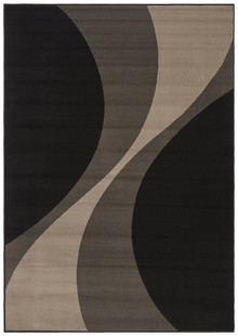 London Black Swirl Rug