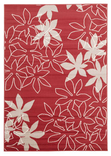 London Flower Red Rug