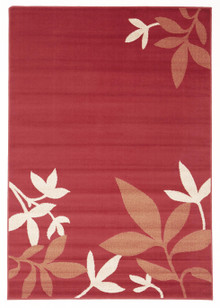 London Red Branch Rug