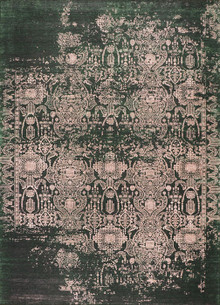 Denver Green Faded Rug