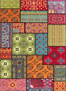 Kali Designer Coloured Rug