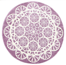 Piccolo Purple Lace 133cm Round Rug