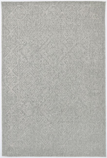 Polar Grey Diamond Outdoor Rug