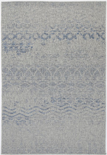Polar Wave Grey Outdoor Rug