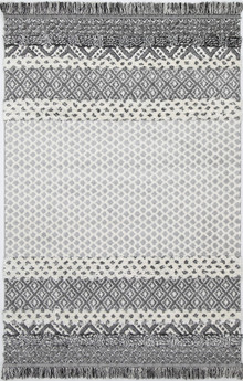 Ava Art Grey Plush Shag Rug
