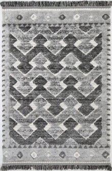 Ava Diamond Cream Shag Rug