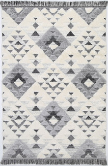 Ava Carved Cream Shag Rug