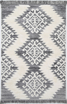 Ava Textured Cream Shag Rug