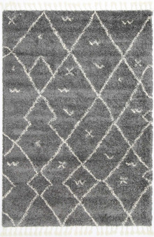 Ash Dot Grey Shaggy Rug