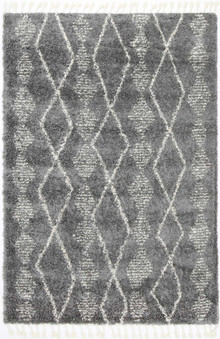Ash Tribal Grey Shaggy Rug