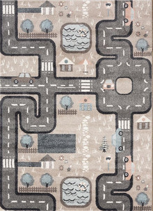 Happy Kids Grey Road Rug