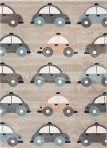Happy Kids Beige Car Rug