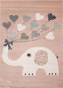 Abode Kids Pink Elephant Rug