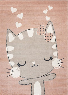 Abode Kids Pink Cat Rug
