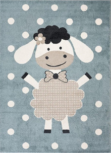 Abode Kids Blue Sheep Rug