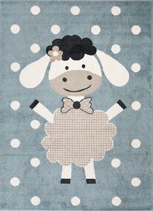Abode Kids Blue Sheep Rug