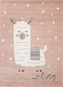 Abode Kids Pink Alpaca Rug