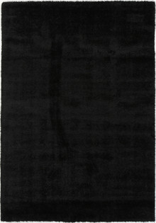 Chloe Soft Black Shaggy Rug