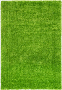 Chloe Soft Green Shaggy Rug