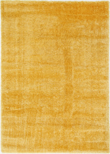 Chloe Soft Yellow Shaggy Rug