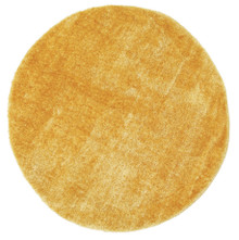 Chloe Soft Yellow Shag 160cm Round