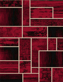 Abi Block Red Rug