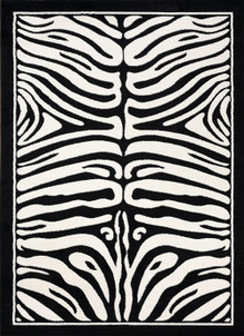 Boston Black Zebra Rug