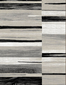 Boston Grey Stripe Rug