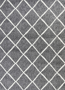 Cira Grey Lattice Rug