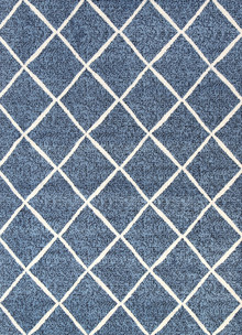 Cira Blue Lattice Rug