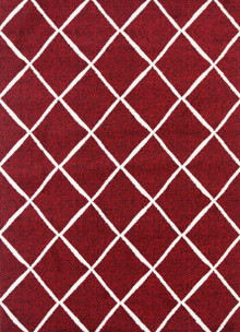 Cira Red Lattice Rug