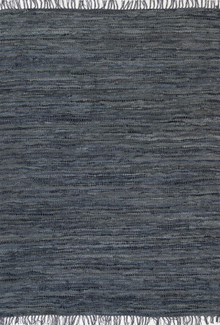 Delta Grey Leather Rug