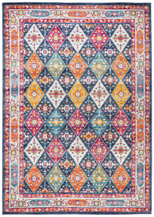 Cara Tribal Navy Wash Rug