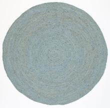 Organic Blue 200cm Jute Round Rug