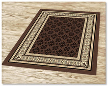 Ruby 6334 Brown Rug