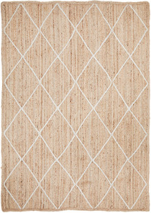 Bosa Natural Diamond Jute Rug