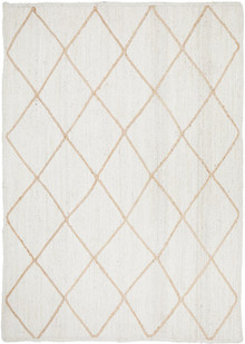 Bosa White Diamond Jute Rug