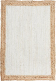 Bosa White Natural Jute Rug