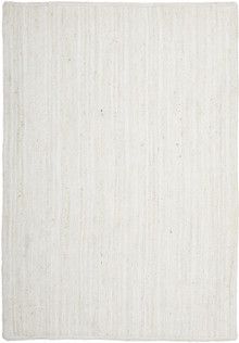 Ari Solid White Jute Rug