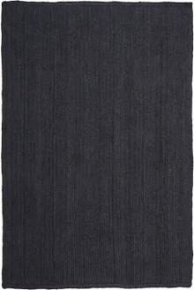 Ari Solid Black Jute Rug