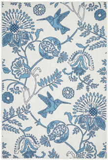 Breezy Blue Bird Rug