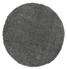 Lupa Charcoal 160cm Round Shaggy