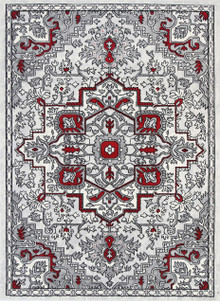 Rosie Deep Red Traditional Rug