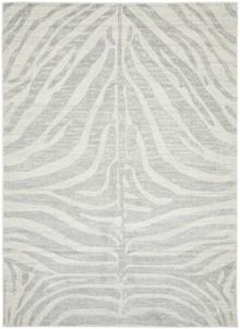 Addison Silver Zebra Rug