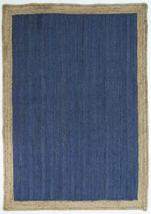 Hampton Navy Natural Jute Rug