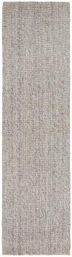 Arctic Grey Wool Jute 80x300cm Runner